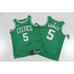 Men's Boston Celtics Kevin Garnett No.5 Green Swingman Jersey Icon Edition