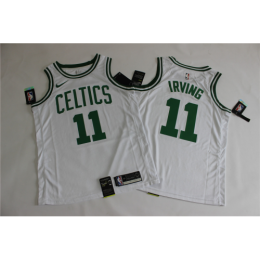 Men's Boston Celtics Kyrie Irving No.11 White Swingman Jersey - Icon Edition