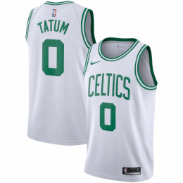 Men's Boston Celtics Jayson Tatum No.0 White Swingman Jersey - Icon Edition