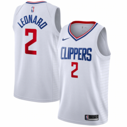 Men's LA Clippers Kawhi Leonard No.2 White 19-20 Swingman Jersey - Association Edition