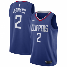 Men's LA Clippers Kawhi Leonard No.2 Blue 19-20 Swingman Jersey - Icon Edition