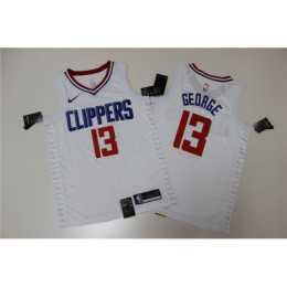 Men's LA Clippers Paul George No.13 White 19-20 Swingman Jersey - Association Edition