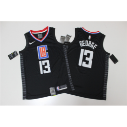 Men's LA Clippers Paul George No.13 Black Swingman Jersey