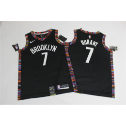 Men's Brooklyn Nets Kevin Durant No.7 Black 19-20 Swingman Jersey - City Edition