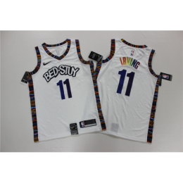 Men's Brooklyn Nets Rainbow Kyrie Irving No.11 White 19-20 Swingman Jersey - City Edition