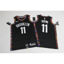 Men's Brooklyn Nets Kyrie Irving No.11 Black 19-20 Swingman Jersey - City Edition