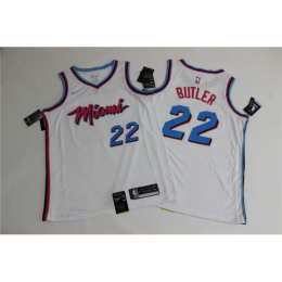 Men's Miami Heat Jimmy Butler No.22 White 19-20 Swingman Jersey - City  Edition