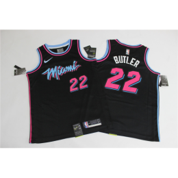 Men's Miami Heat Jimmy Butler No.22 Black 19-20 Swingman Jersey - City Edition