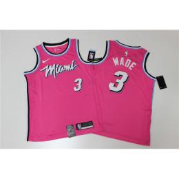 Men's Miami Heat Dwyane Wade No.3 Pink 19-20 Swingman Jersey - City  Edition