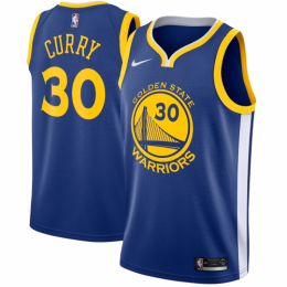 Men's Golden State Warriors Stephen Curry No.30 Blue 19-20 Swingman Jersey - Icon Edition