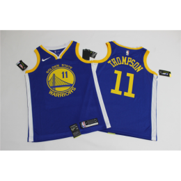 Men's Golden State Warriors Klay Thompson No.11 Blue Swingman Jersey - Icon Edition