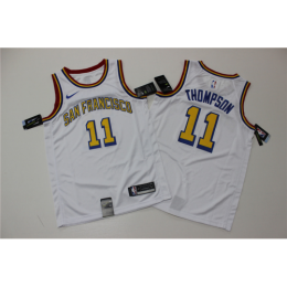 Men's Golden State Warriors Klay Thompson No.11 White 19-20 Swingman Jersey - City Edition