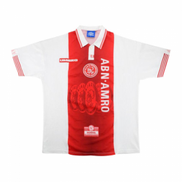 97/98 Ajax Home Red&White Retro Soccer Jerseys Shirt