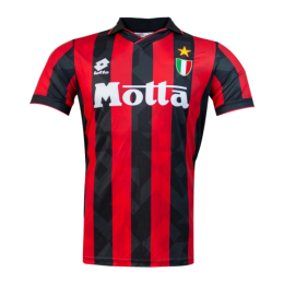 92/94 AC Milan Home Red Retro Soccer Jerseys Shirt