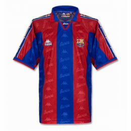 96/97 Barcelona Home Red&Blue Retro Soccer Jerseys Shirt