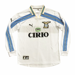 99/00 Lazio Away White Retro Long Sleeve Jerseys Shirt