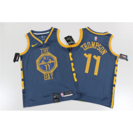 Men's Golden State Warriors Klay Thompson No.11 Blue 19-20 Swingman Jersey - City Edition