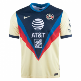 20/21 Club America Home Yellow Soccer Jerseys Shirt
