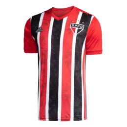 20/21 Sao Paulo Away Red&Black Soccer Jerseys Shirt