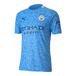 20/21 Manchester City Home Blue Jerseys Shirt(Player Version)