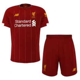 19-20 Liverpool Home Red Soccer Jerseys Kit(Shirt+Short)