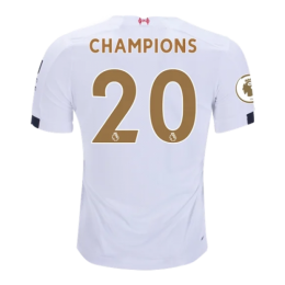"19/20 Liverpool Away ""Champion #20 Golden"" Soccer Shirt"
