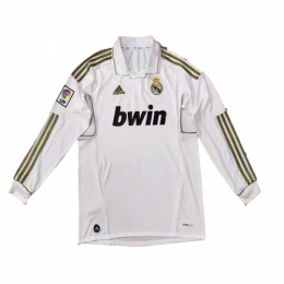 11-12 Real Madrid Home White Long Sleeve Retro Jersey Shirt