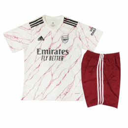 20/21 Arsenal Away White Children's Jerseys Kit(Shirt+Short)