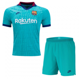 19/20 Barcelona Third Away Blue Soccer Jerseys Kit(Shirt+Short)