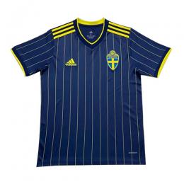 2020 Sweden Away Blue Soccer Jerseys Shirt