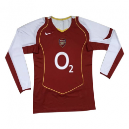 04/05 Arsenal Home Red&White Long Sleeve Retro Jerseys Shirt