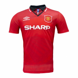 94/95 Manchester United Home Red Retro Jerseys Shirt