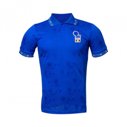 1994 World Cup Italy Home Blue Retro Soccer Jerseys Shirt