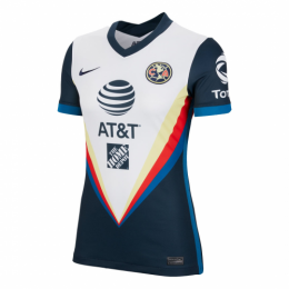 20/21 Club America Away White Women's Jerseys Shirt