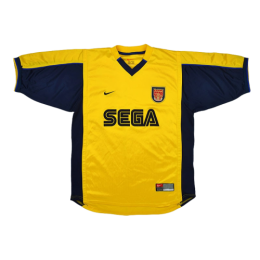 99/00 Arsenal Away Yellow Retro Jerseys Shirt