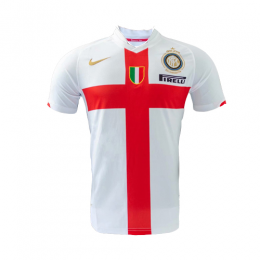 07/08 Inter Milan 100th Anniversary Away Red&White Retro Jerseys Shirt
