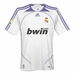 07/08 Real Madrid Home White Retro Jerseys Shirt