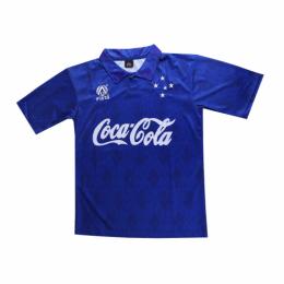 93/94 Cruzeiro EC Home Blue Retro Soccer Jerseys Shirt