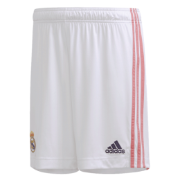 20/21 Real Madrid Home White Soccer Jersey Short