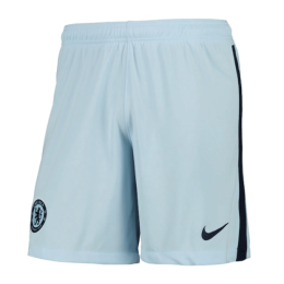 20/21 Chelsea Away Light Blue Soccer Jerseys Short