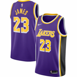 Men's Los Angeles Lakers LeBron James No.23 Purple  Swingman Jersey - Statement Edition