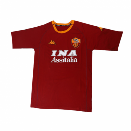 00/01 Roma Home Red&Yellow Soccer Retro Jerseys Shirt