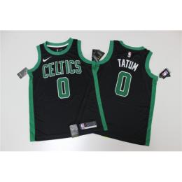 Men's Boston Celtics Jayson Tatum No.0 Black Swingman Jersey Statement Edition