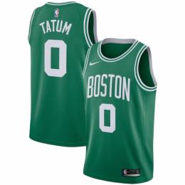 Men's Boston Celtics Jayson Tatum No.0 Green Swingman Jersey Icon Edition