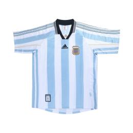 1998 World Cup Argentina Home Blue&White Retro Soccer Jerseys Shirt