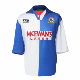 94/95 Blackburn Rovers Home Blue&White Retro Soccer Jerseys Shirt