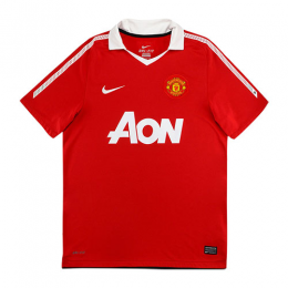 10-11 Manchester United Home Red Retro Jerseys Shirt