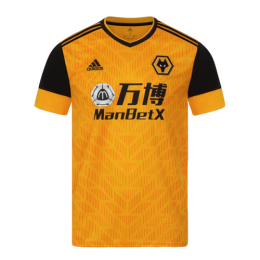 20/21 Wolverhampton Wanderers Home Yellow Soccer Jerseys Shirt
