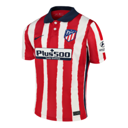 20/21 Atletico Madrid Home Red&White Soccer Jerseys Shirt(Player Version)