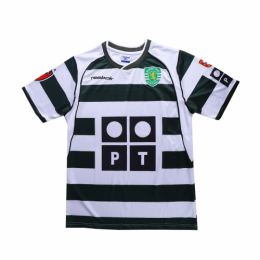 01/03 Sporting Lisbon Home Green&White Retro Soccer Jerseys Shirt